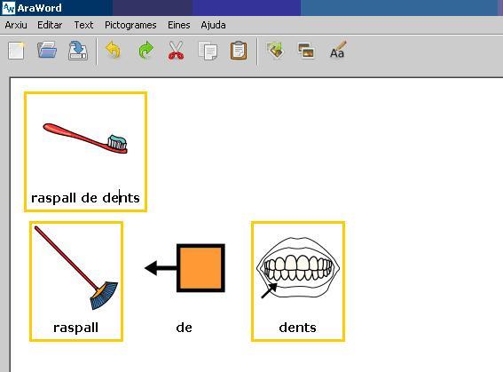 icones per descompondre un pictograma