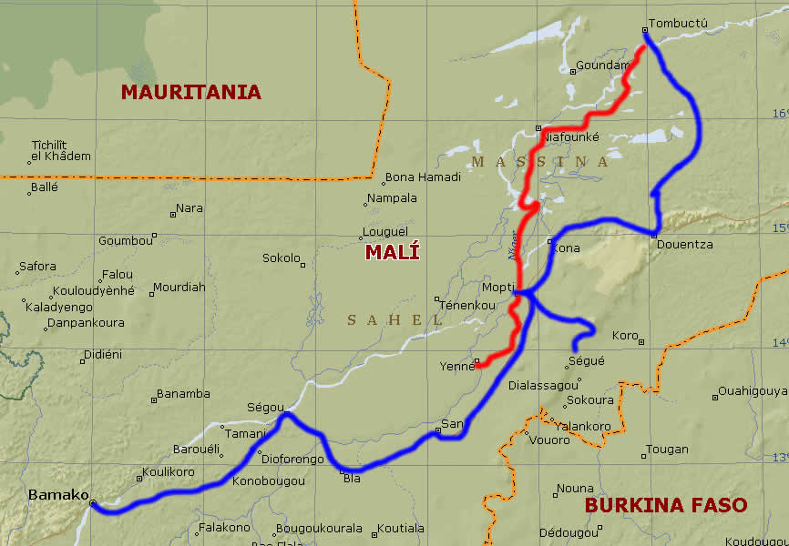 Mapa de Malí | Metro Map | Bus Routes | Metrobus Way Map | Train ...
