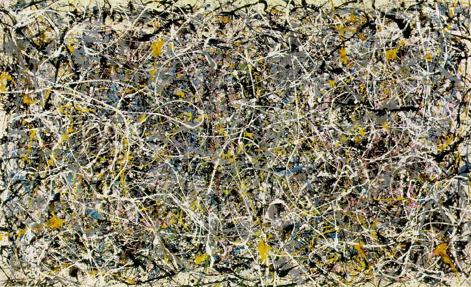 Im genes jackson pollock action painting and paintings for Mural jackson pollock