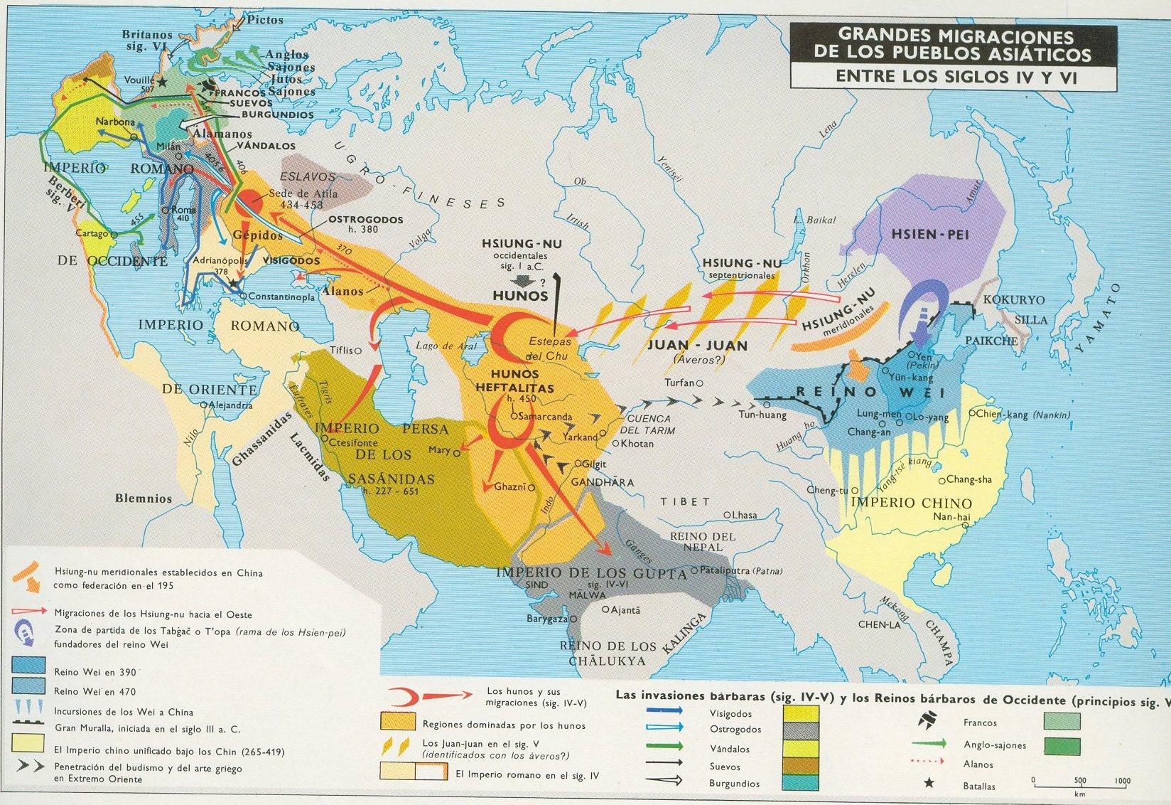 Grandes Migraciones de los Pueblos Asiáticos